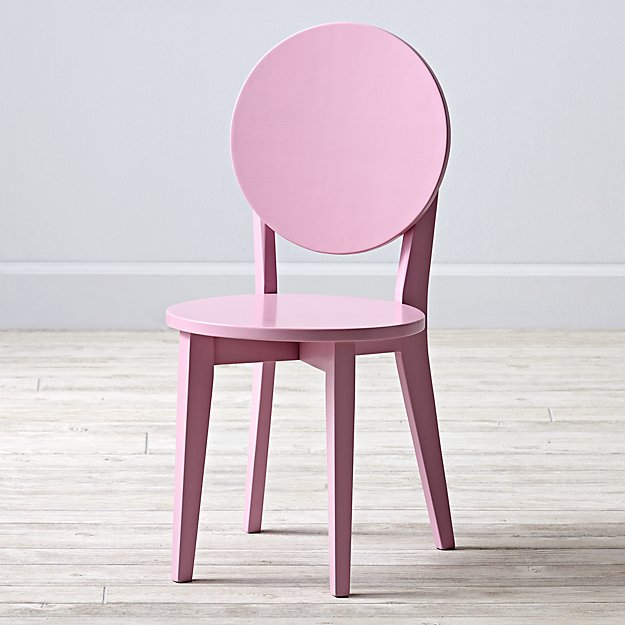 Double Dot Pink Kids Chair