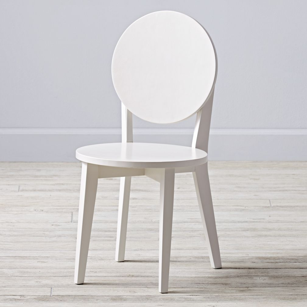 Double Dot White Kids Chair