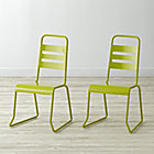 "Set of 2 Homeroom Lime Kids ChairsFloor to Seat: 14.5"" H"