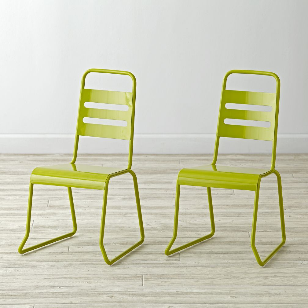 Set of 2 Homeroom Lime Kids Chairs