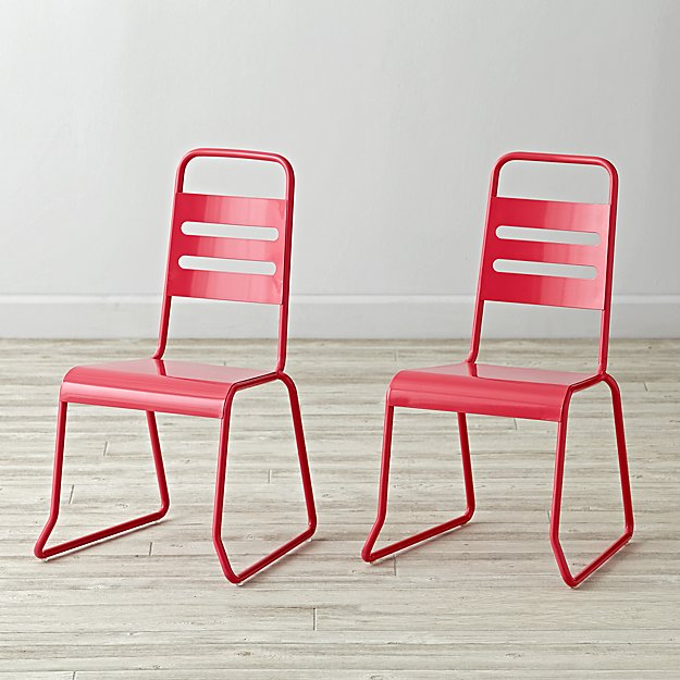Set of 2 Homeroom Pink Kids Chairs