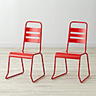 "Set of 2 Homeroom Red Kids ChairsFloor to Seat: 14.5"" H"
