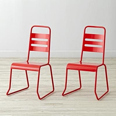 Set of 2 Homeroom Red Kids Chairs