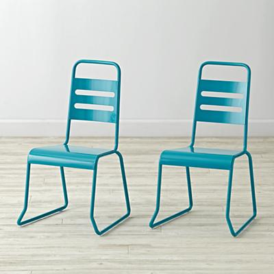 Set of 2 Homeroom Teal Kids Chairs