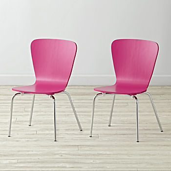Set of 2 Little Felix Fuchsia Kids Chairs