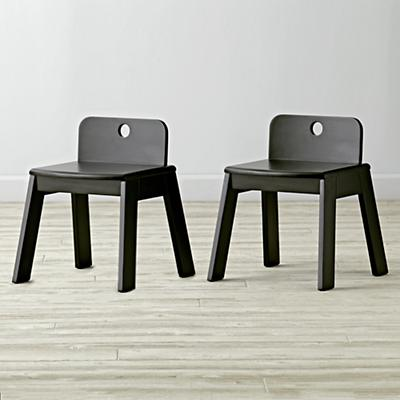Set of 2 Mojo Black Kids Chair