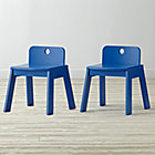 "Set of 2 Mojo Blue Kids ChairsFloor to Seat: 13"" H"