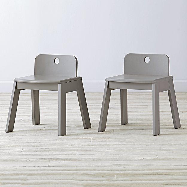 Set of 2 Mojo Grey Kids Chairs