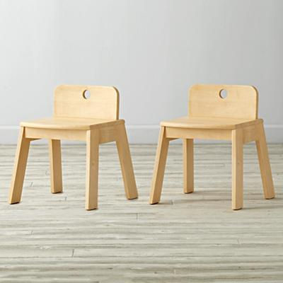 Set of 2 Mojo Natural Kids Chairs