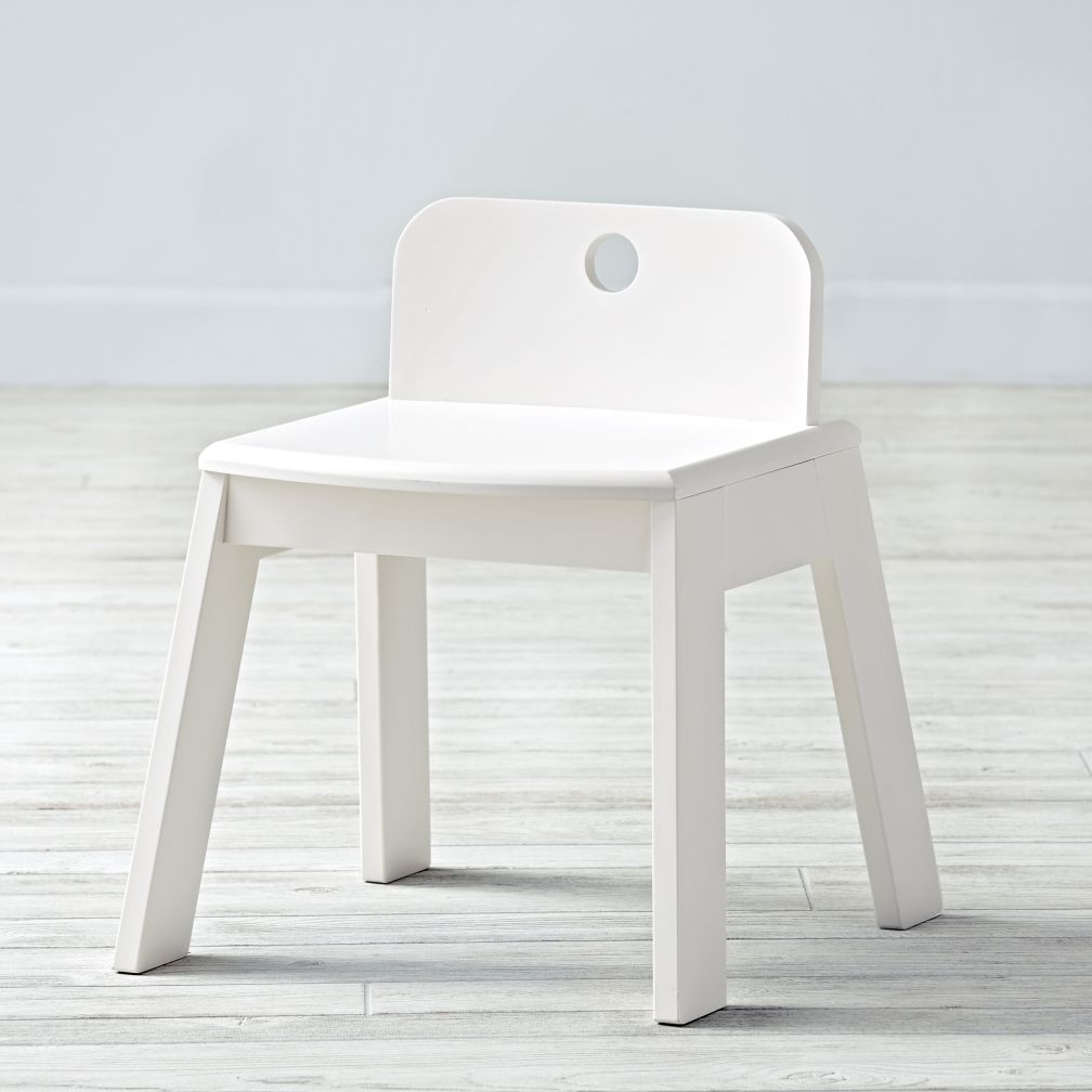 Mojo White Kids Chair
