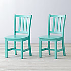 "Set of 2 Parker Azure Kids ChairsFloor to Seat: 14"" H"