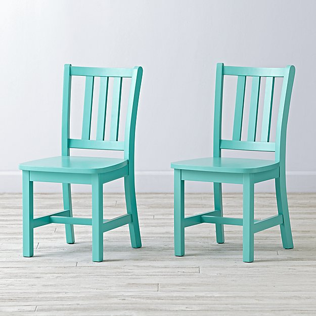 Set of 2 Parker Azure Kids Chairs