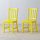"Set of 2 Parker Bright Yellow Kids ChairsFloor to Seat: 14"" H"