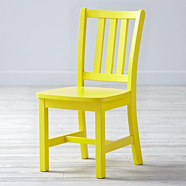 Parker Bright Yellow Kids Chair