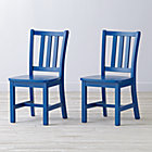 "Set of 2 Parker Cobalt Kids ChairsFloor to Seat: 14"" H"