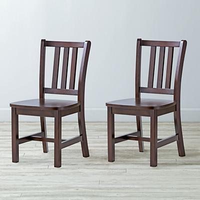 Set of 2 Parker Espresso Kids Chairs