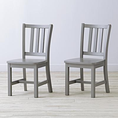Set of 2 Parker Grey Kids Chairs