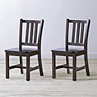 "Set of 2 Parker Java Kids ChairsFloor to Seat: 14"" H"