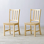 "Set of 2 Parker Natural Kids ChairsFloor to Seat: 14"" H"