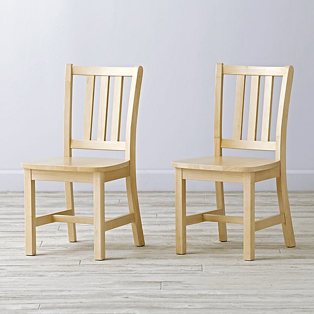 Set of 2 Parker Natural Kids Chairs