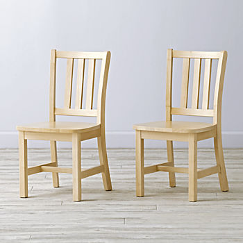 Set of 2 Parker Natural Kids Chairs & Wooden Play Table u0026 Chair Sets | The Land of Nod islam-shia.org