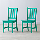"Set of 2 Parker Spruce Kids ChairsFloor to Seat: 14"" H"
