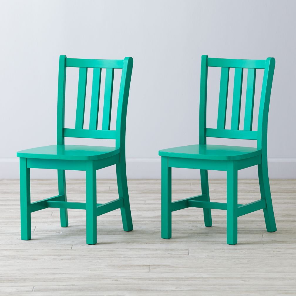 Set of 2 Parker Spruce Kids Chairs