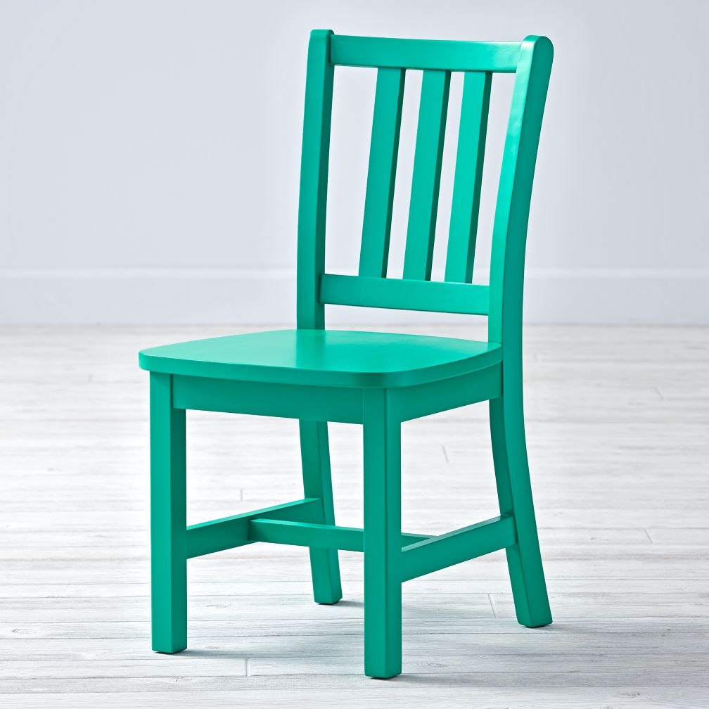 Teal Chair White Parker Kids Play Chair The Land Of Nod