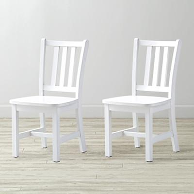 Set of 2 Parker White Kids Chairs
