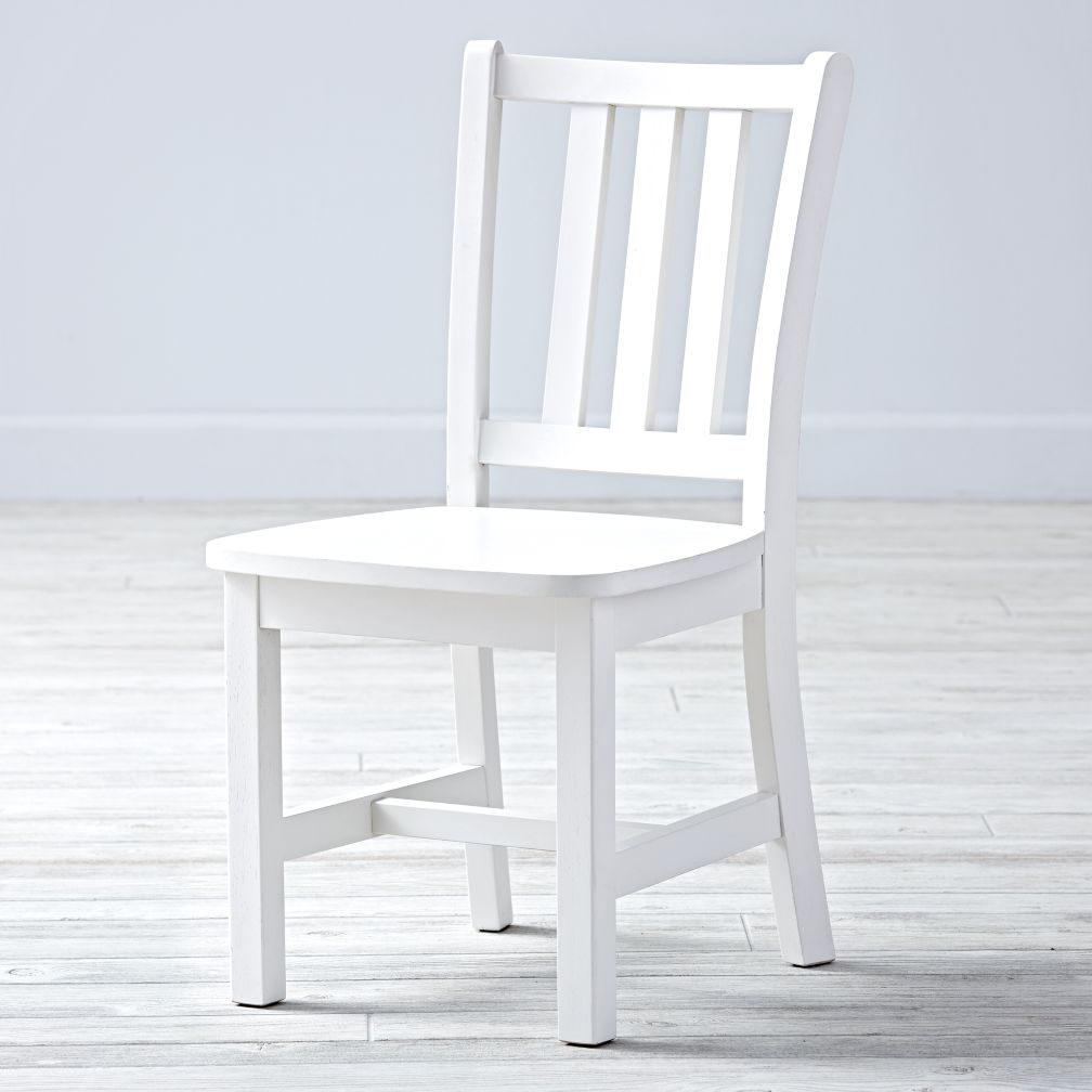Parker White Kids Chair