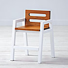 "Two-Tone Teak White Kids ChairFloor to Seat: 14"" H"