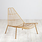 Gold Domino Lounge Chair