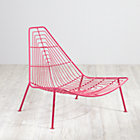 Hot Pink Domino Lounge Chair