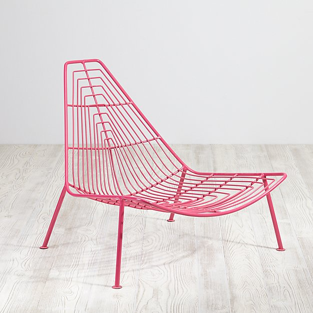Domino Lounge Chair (Hot Pink)
