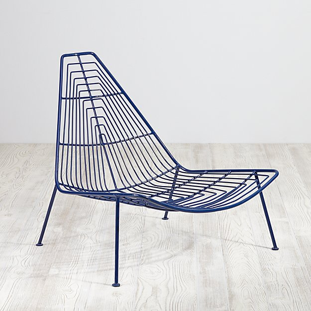 Domino Lounge Chair (Navy)
