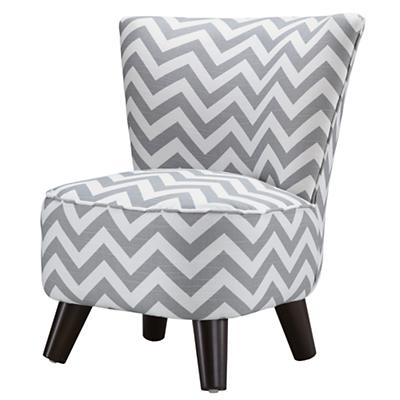 Little Slipper Chair (Grey Zig Zag)