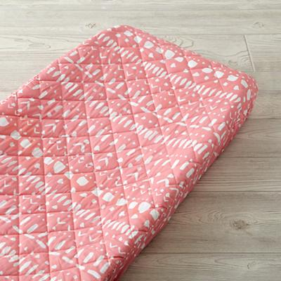 Wild Excursion Pink Tribal Changing Pad Cover