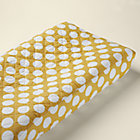 Not a Peep Yellow w/ White Dot Changing Pad Cover
