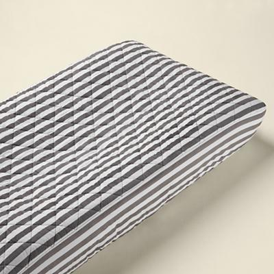 Not a Peep Changing Pad Cover (Stripe)