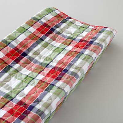 Changer Pad Cover (Blue Plaid)
