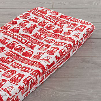 red floral slipcover changing pads and covers the land of nod