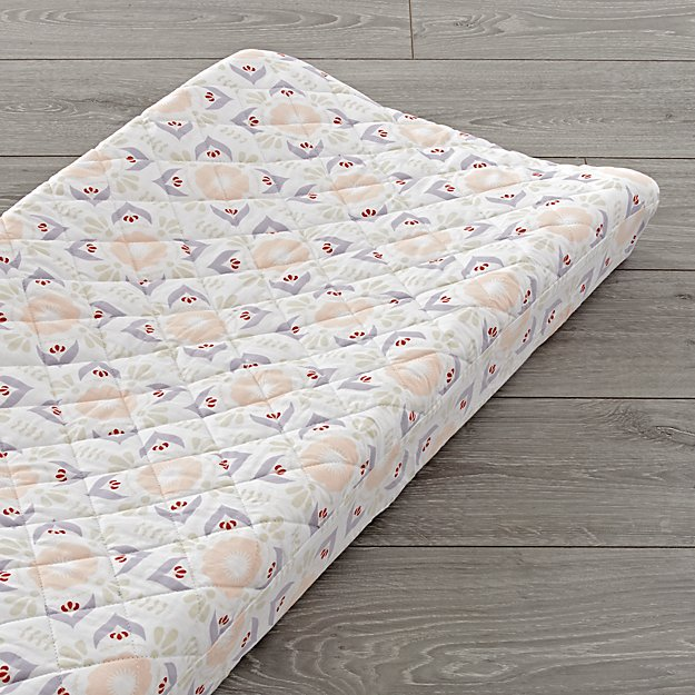 Baja Garden Floral Changing Pad Cover