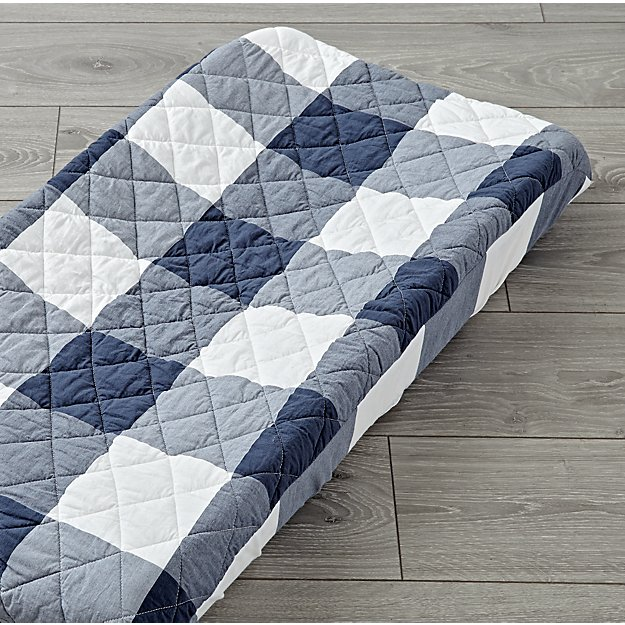 Genevieve Gorder Plaid Changing Pad Cover