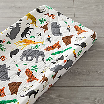 Jungle Animal Changing Pad Cover