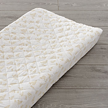 Natural Leaf Changing Pad Cover