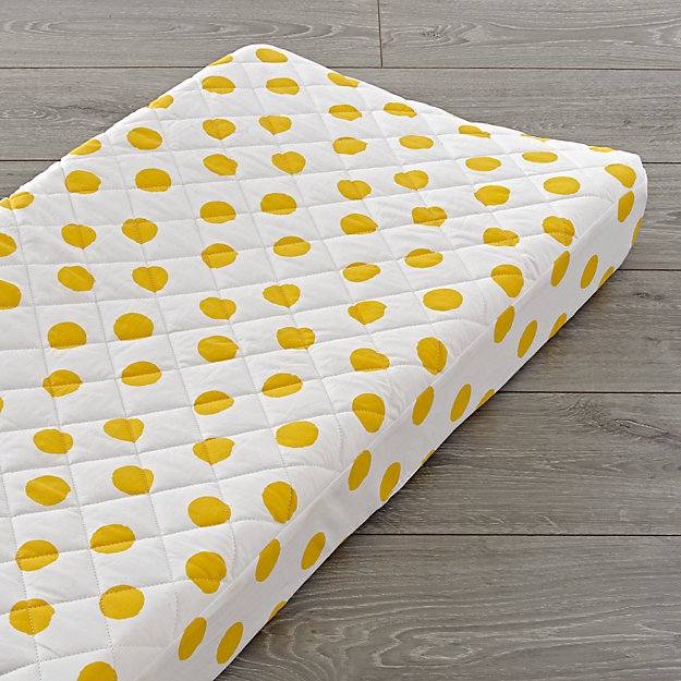 Apple Orchard Yellow Dot Changing Pad Cover