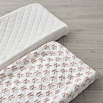 Set of 2 Baseball Changing Pad Covers