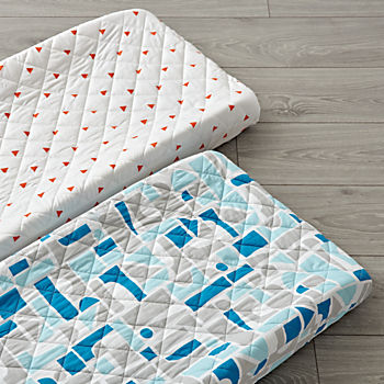 Set of 2 Block Party Changing Pad Covers