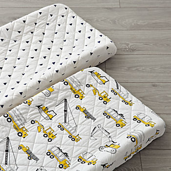 Set of 2 Builder's Changing Pad Covers