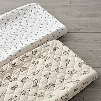 Set of 2 Bunny Changing Pad Covers